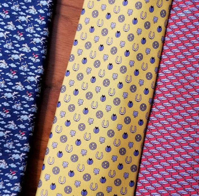 Hermes Job Interview Tie with Good Luck Charms