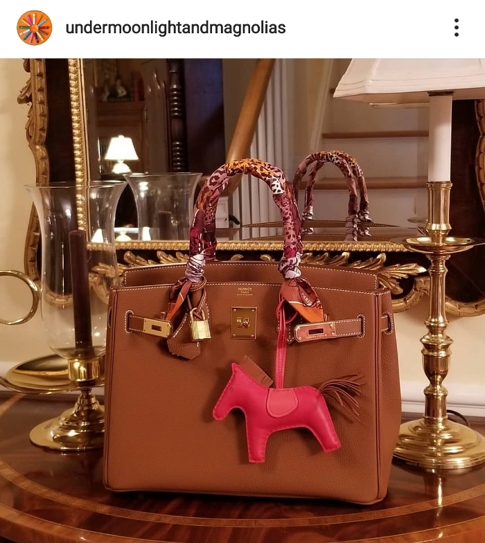Hermes Rodeo in Red and Brown
