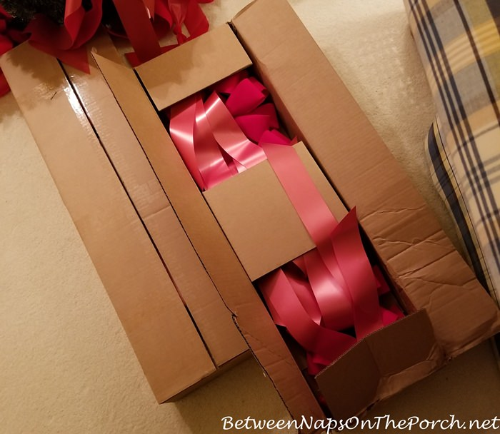Long Red Ribbons for Christmas Wreaths