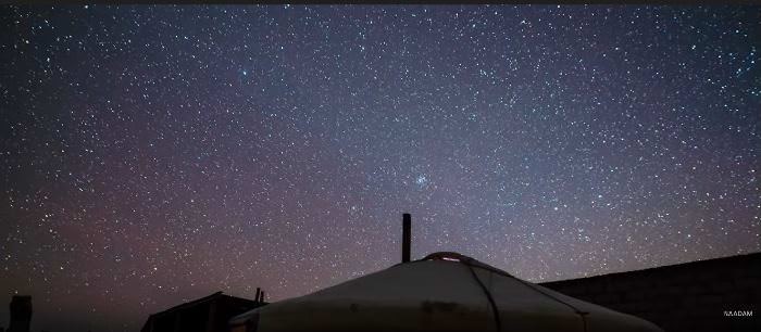 Sky full of stars over Gobi Desert