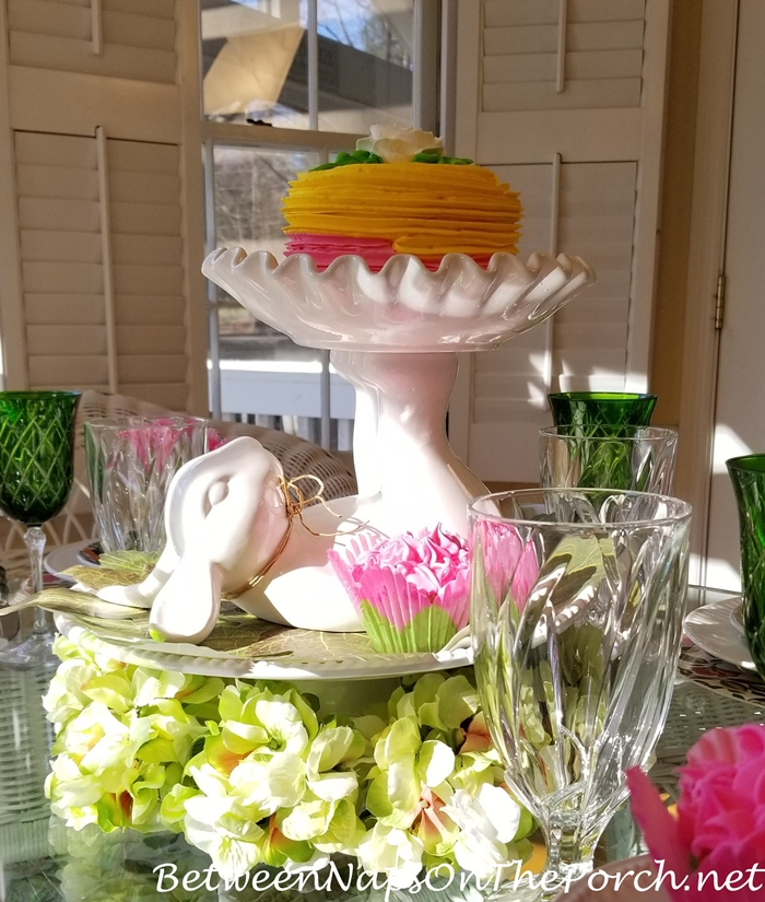 Upside Down Bunny Pedestal Cake Stand
