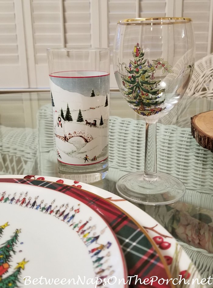 Winter, Christmas Glassware Stemware