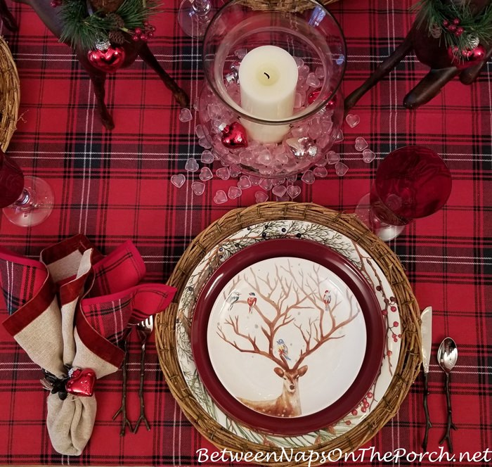 Woodland Deer Valentine's Day Table Setting