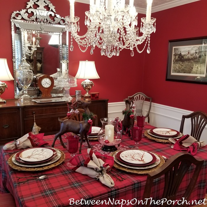 Woodland Themed Valentine's Day Table Setting