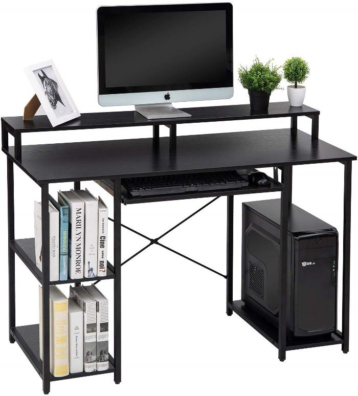 Great Desk for Home Office, Holds Double Monitors
