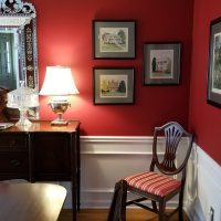 Red Dining Room Makeover, Adding Art