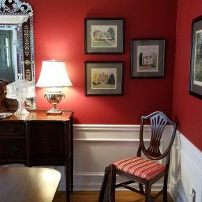 Red Dining Room Makeover, Adding Art