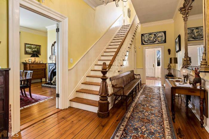 Staircase with Newel Post, Historic Home