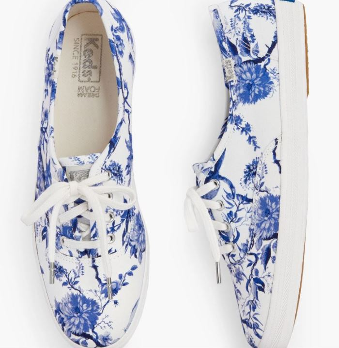 Toile Sneakers, Blue and White