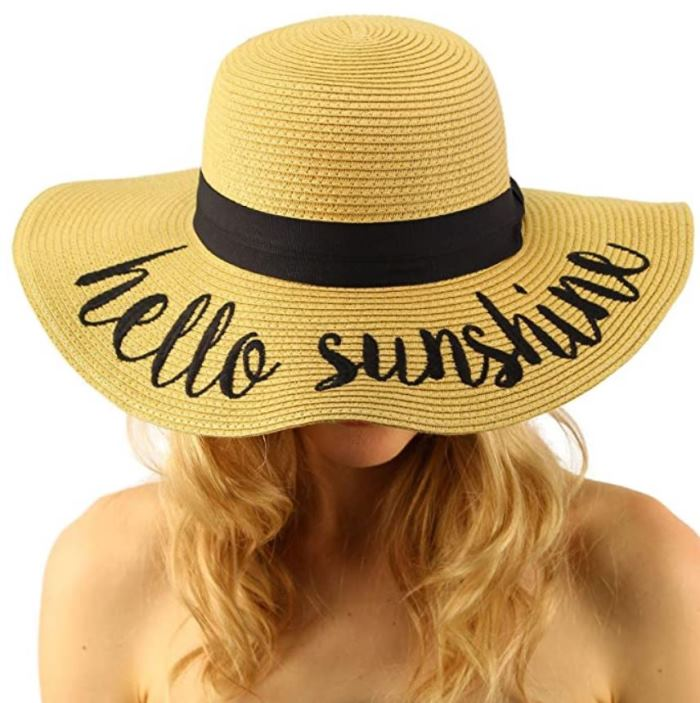 Beach Hat, Sun Hat, Hello Sunshine