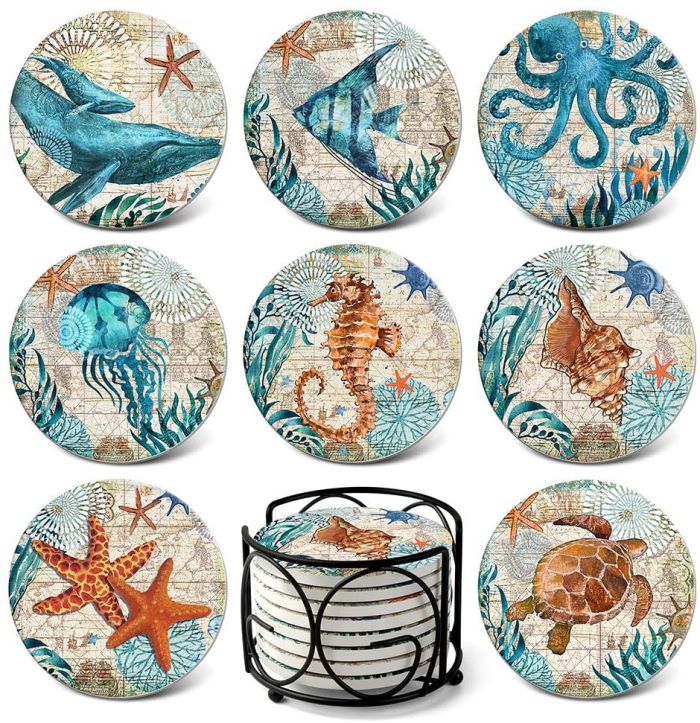 Beach Ocean Themed Coasters