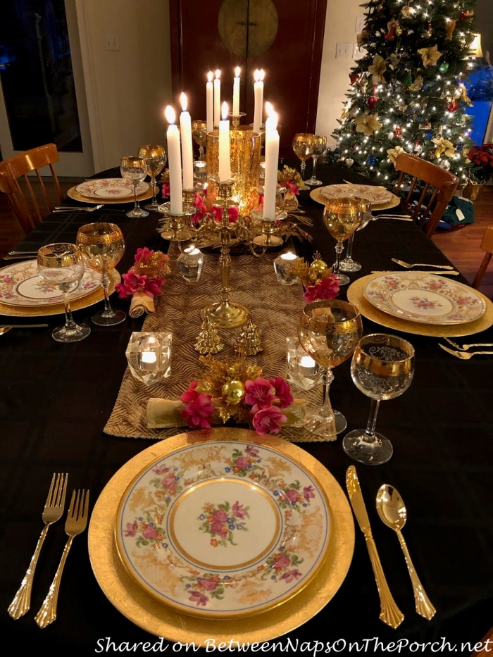 Birthday Table Setting in Pink, Silver and Gold