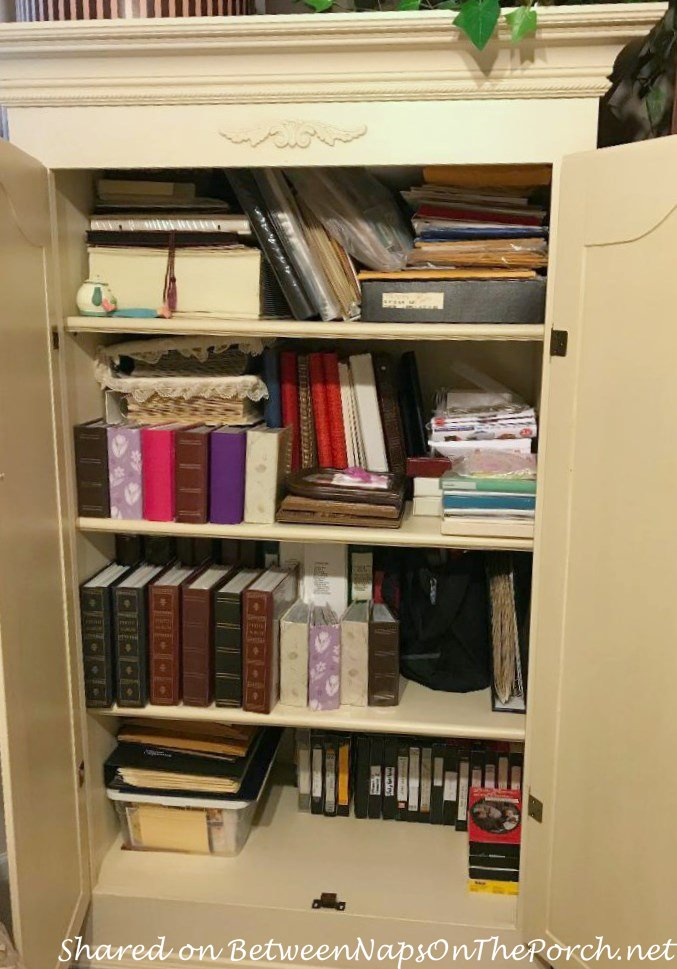 Cabinet Makeover for Storage, Photo Cabinet