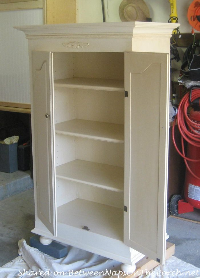 Cabinet Transformed for Storage