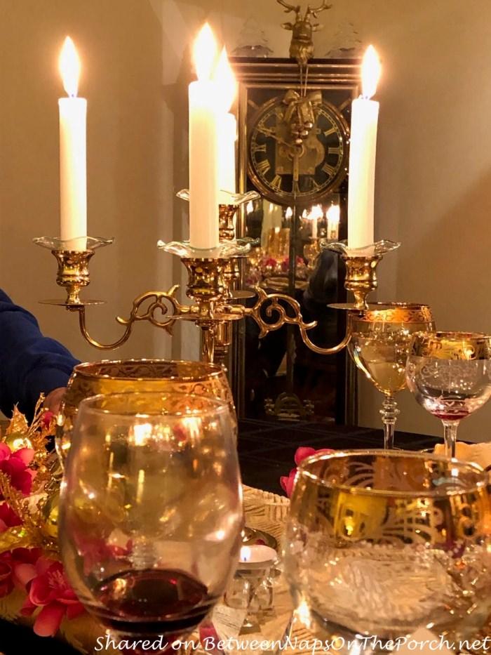 Candelabra in Birthday Dinner Celebration