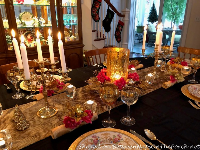Candlelit Dinner in Pink, Gold and Silver