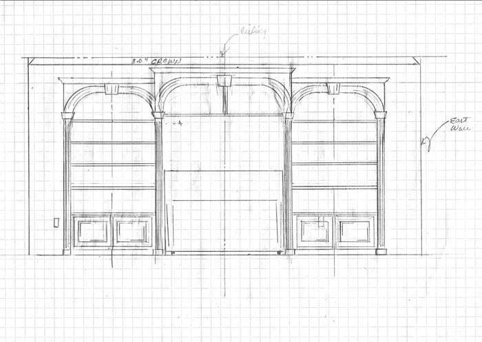 Design for Built in Shelving