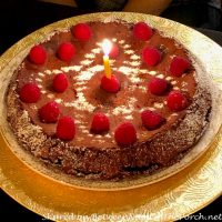 Flourless Chocolate Cake Made with Whipped Egg Whites, Birthday Cake
