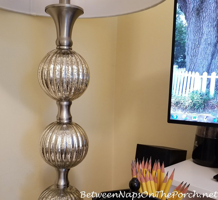 Mercury-Glass Floor Lamp, Beautiful