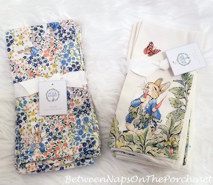 Peter Rabbit Napkins for spring or Easter