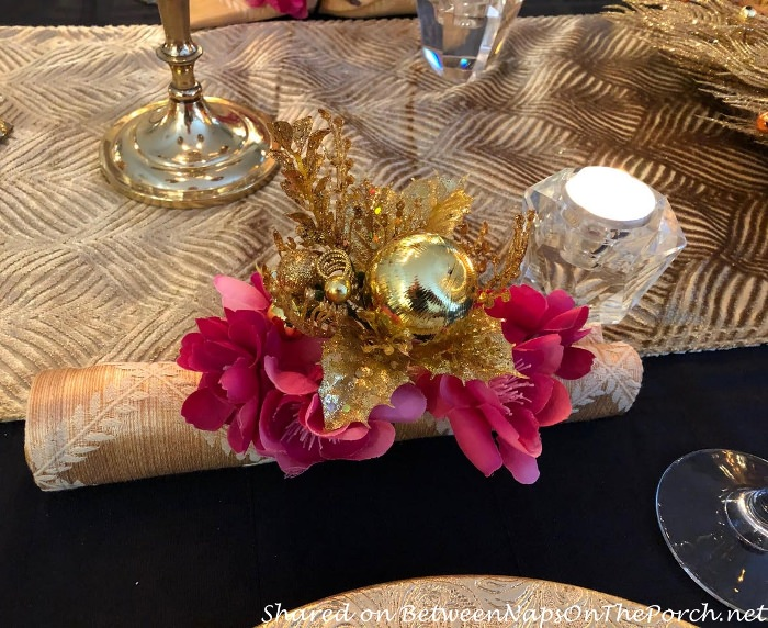 Unique way to display napkins in table setting
