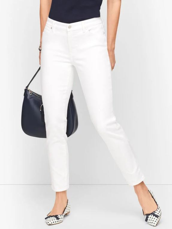 White Jeans for Curvy Figures