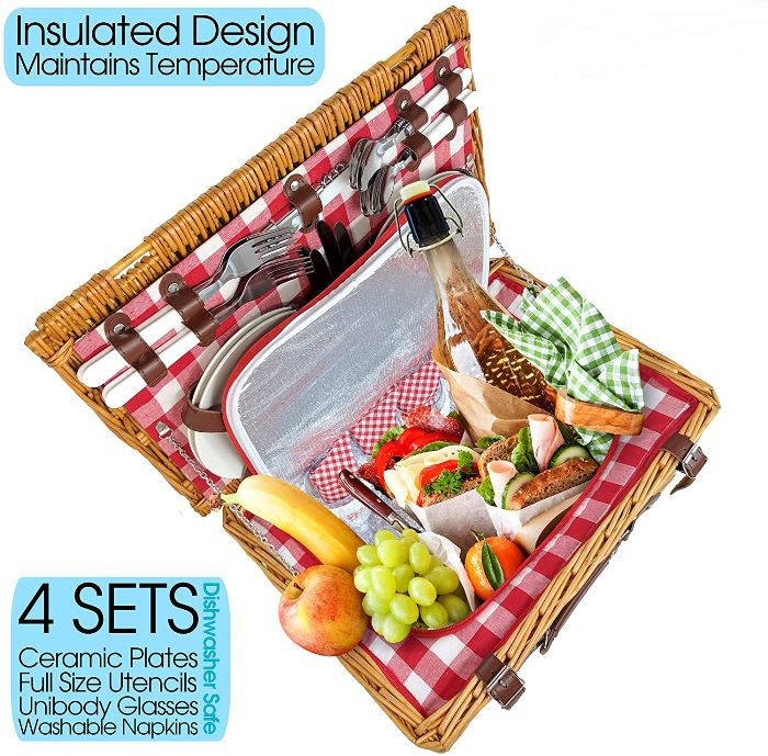 Best Picnic Basket for 4, Highly Rated