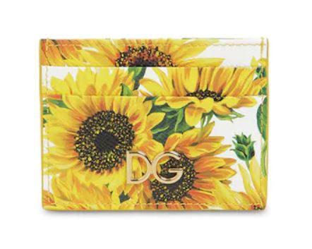 Dolce and Gabbana Sunflower Card Holder