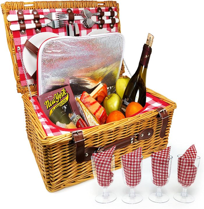 Picnic Basket for 4, Insulated