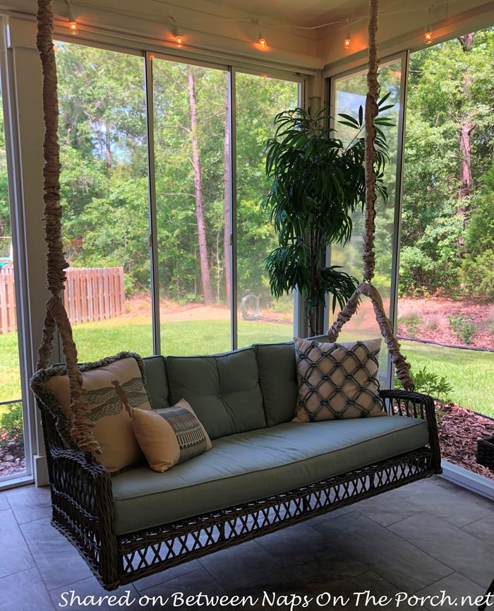 Porch Swing with Swing Covers