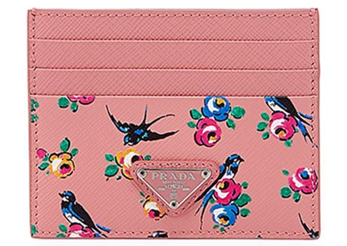 Prada Bird Card Holder in Pink