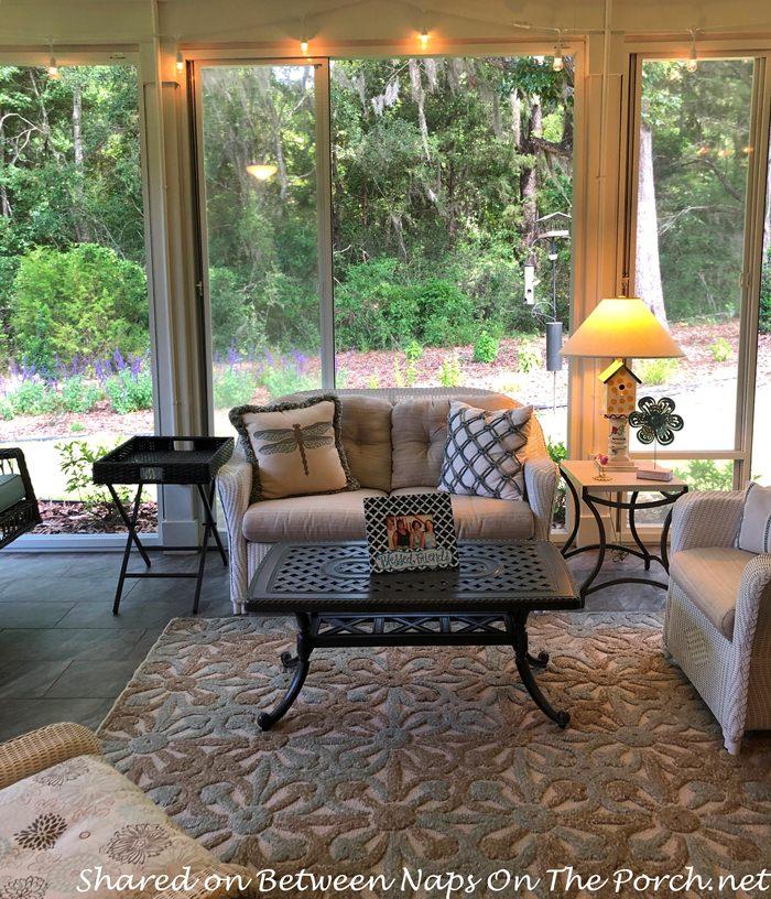 Screened Porch, Wicker Furniture