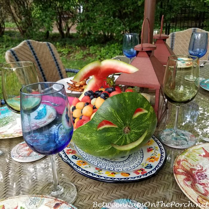 Watermelon Carved for Summer Fun Dining