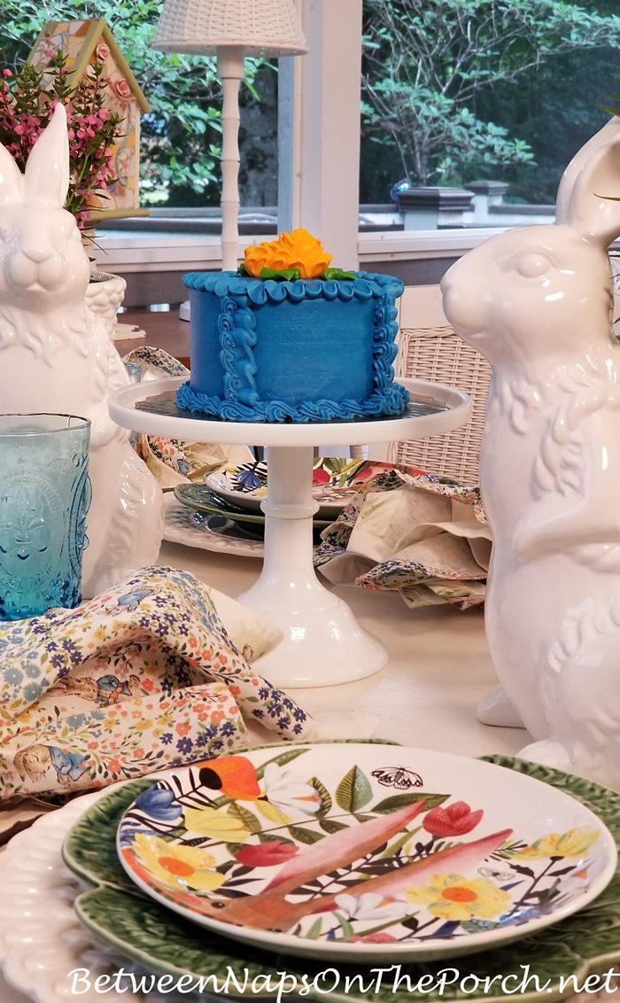 Blue Iced Cake