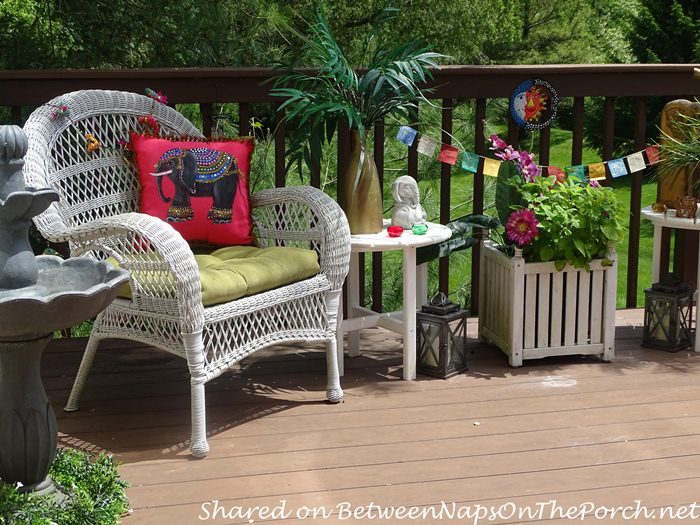 Decorate Deck with Bright Colors for Summer