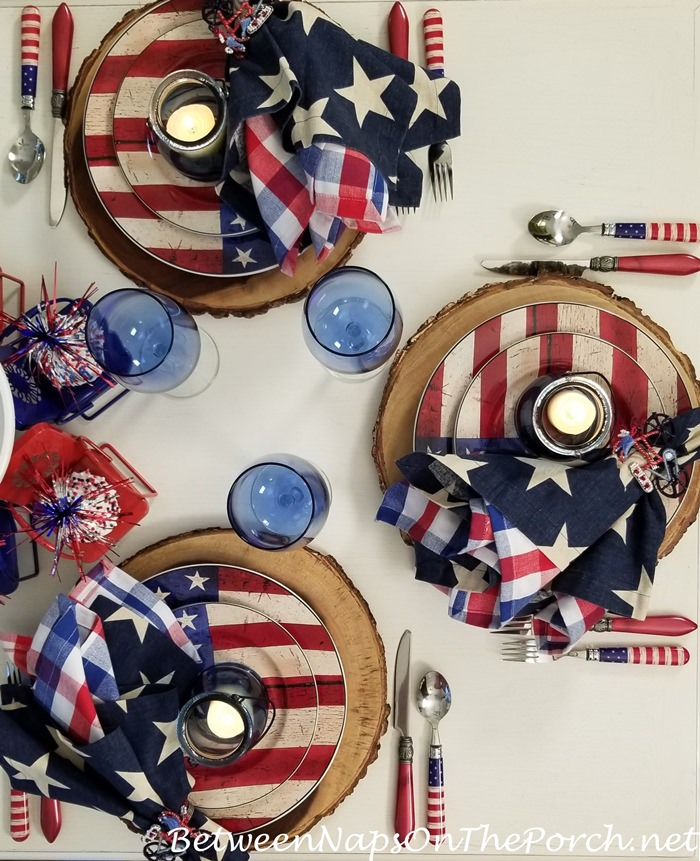 Flag Dinnerware for 4th of July Dinner Party