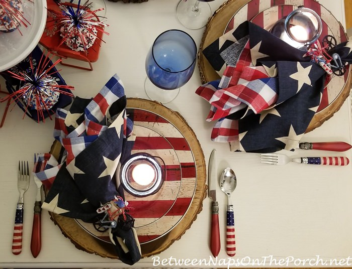 Flag Dishware for Independence Day