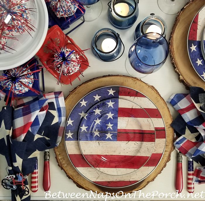 Patriotic 4th of July Plates