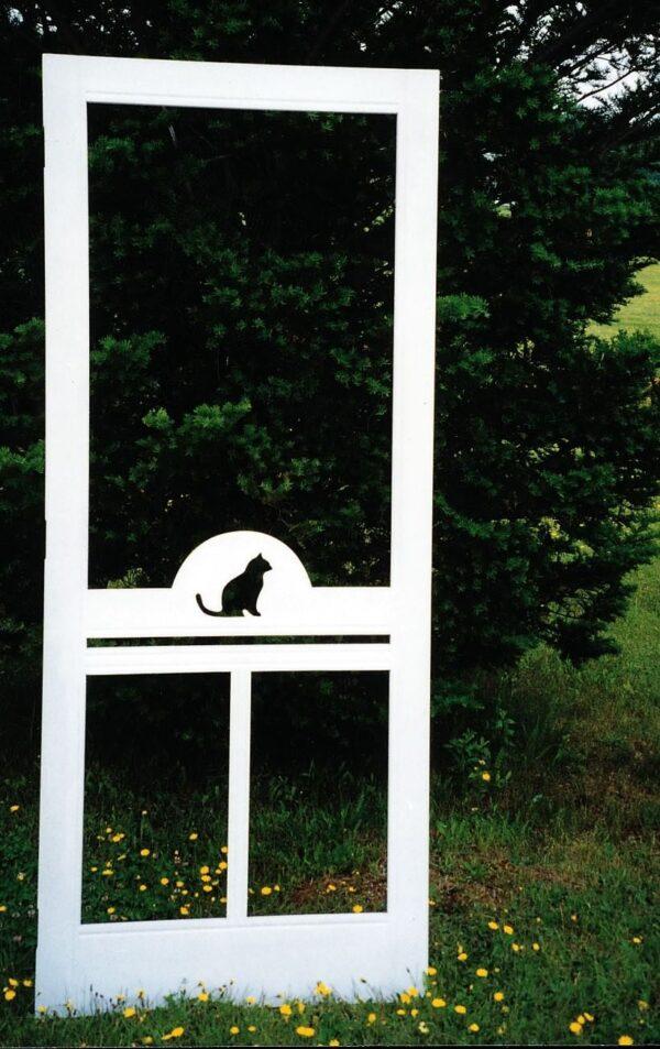 Screened Door, Cat Silhouette Design