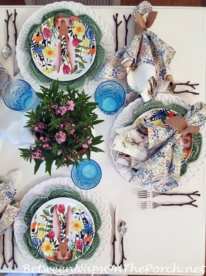 Spring Bunny Table Setting