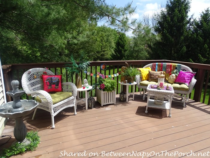 White Wicker for a Summer Deck