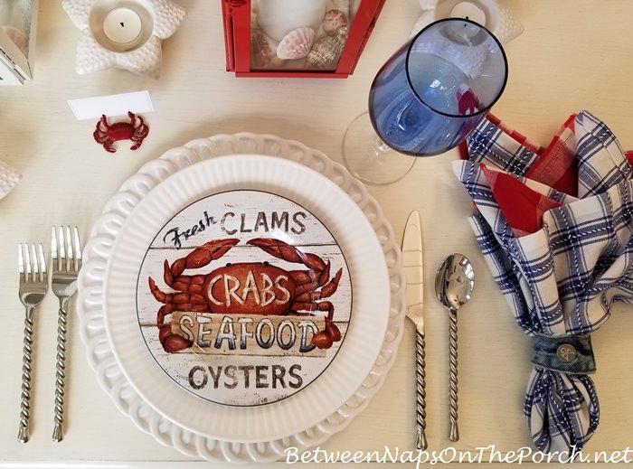 Beachy Table, Crab Plates