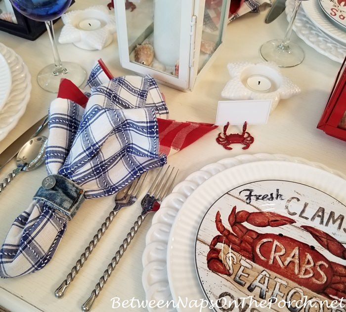 Crab Place Card Holders and Crab Plates