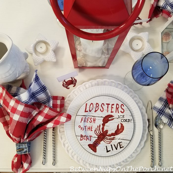 Lobster Motif Salad Plate
