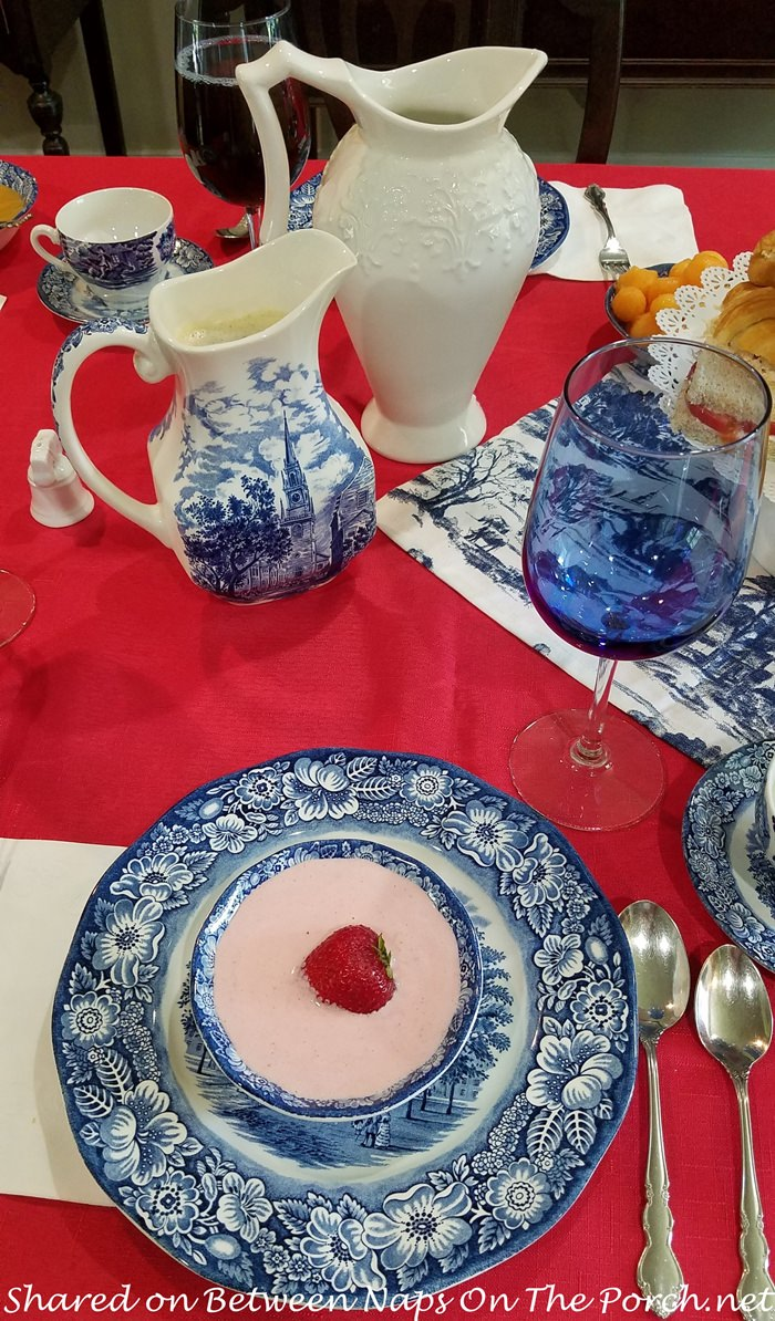 Patriotic Tea Party with Liberty Blue China
