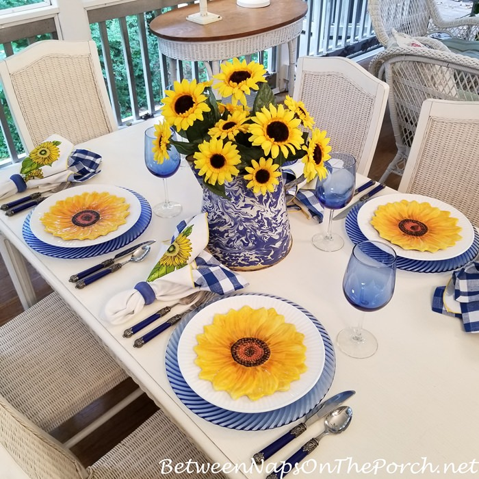 Screened Porch Dining, Summer Tablescape