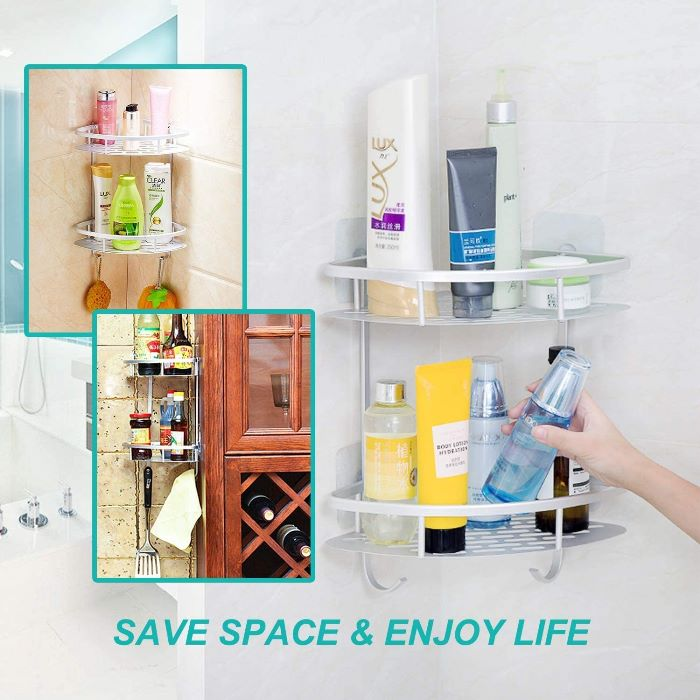 Shower Caddy Organizer, Attaches to Wall Easily