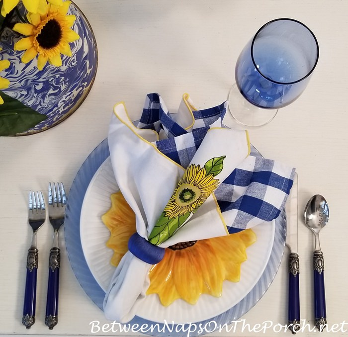 Sunflower Themed Table Setting