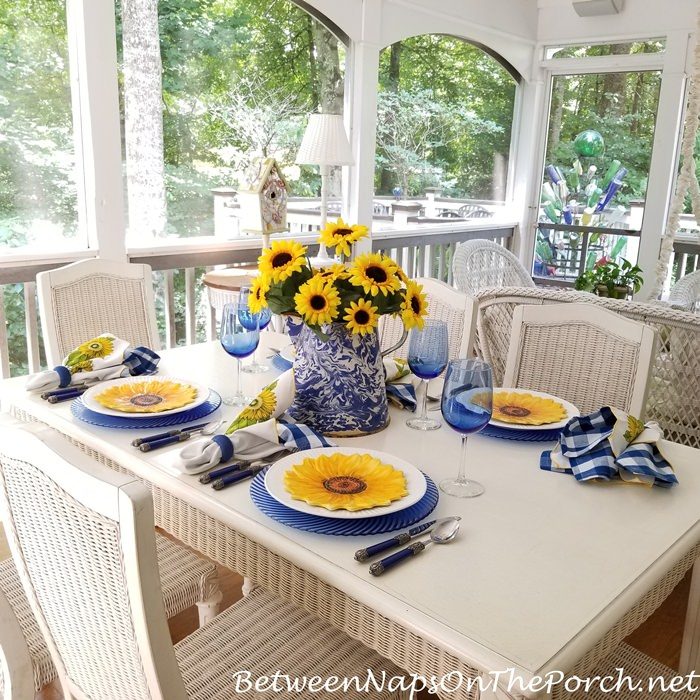 Sunflower Themed Tablescape
