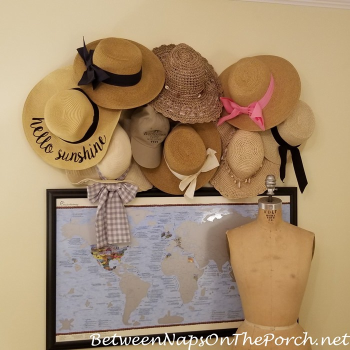 Summer Hat Storage, Decorating with Hats